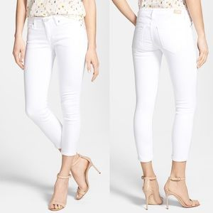 Joie Skinny Crop White Denim Jeans 28